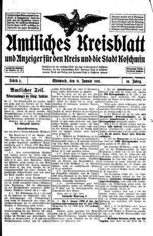 Amtliches Kreisblatt und Anzeiger für den Kreis und die Stadt Koschmin vom 11.01.1905