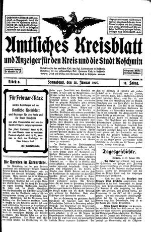 Amtliches Kreisblatt und Anzeiger für den Kreis und die Stadt Koschmin vom 28.01.1905