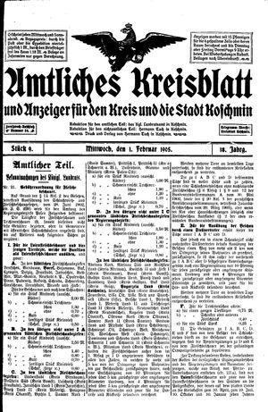 Amtliches Kreisblatt und Anzeiger für den Kreis und die Stadt Koschmin vom 01.02.1905