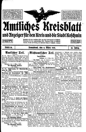 Amtliches Kreisblatt und Anzeiger für den Kreis und die Stadt Koschmin vom 04.03.1905