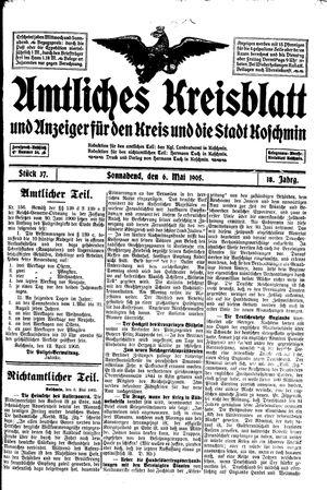 Amtliches Kreisblatt und Anzeiger für den Kreis und die Stadt Koschmin vom 06.05.1905