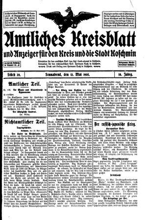 Amtliches Kreisblatt und Anzeiger für den Kreis und die Stadt Koschmin vom 13.05.1905