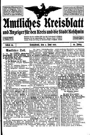 Amtliches Kreisblatt und Anzeiger für den Kreis und die Stadt Koschmin vom 03.06.1905