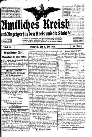 Amtliches Kreisblatt und Anzeiger für den Kreis und die Stadt Koschmin vom 05.07.1905