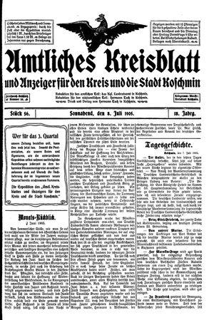 Amtliches Kreisblatt und Anzeiger für den Kreis und die Stadt Koschmin vom 08.07.1905