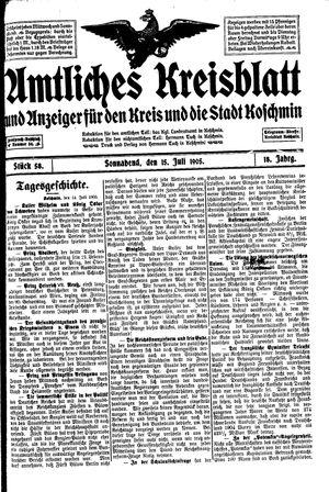 Amtliches Kreisblatt und Anzeiger für den Kreis und die Stadt Koschmin vom 15.07.1905