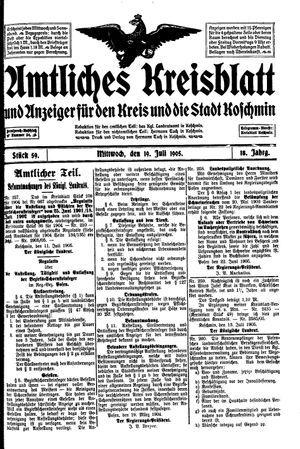 Amtliches Kreisblatt und Anzeiger für den Kreis und die Stadt Koschmin vom 19.07.1905