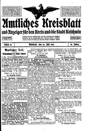 Amtliches Kreisblatt und Anzeiger für den Kreis und die Stadt Koschmin vom 26.07.1905
