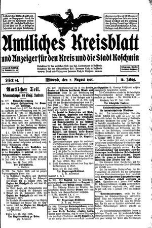 Amtliches Kreisblatt und Anzeiger für den Kreis und die Stadt Koschmin on Aug 2, 1905