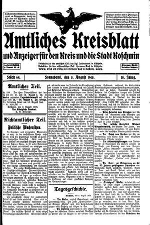 Amtliches Kreisblatt und Anzeiger für den Kreis und die Stadt Koschmin on Aug 5, 1905