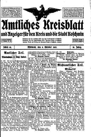 Amtliches Kreisblatt und Anzeiger für den Kreis und die Stadt Koschmin vom 04.10.1905