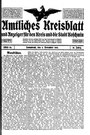 Amtliches Kreisblatt und Anzeiger für den Kreis und die Stadt Koschmin vom 04.11.1905