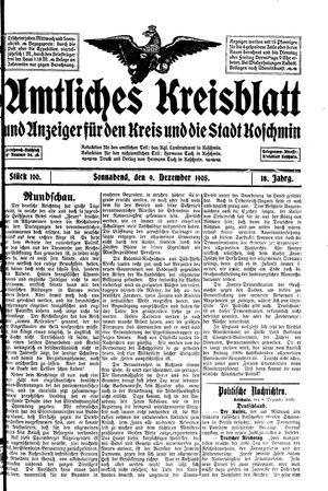Amtliches Kreisblatt und Anzeiger für den Kreis und die Stadt Koschmin on Dec 9, 1905
