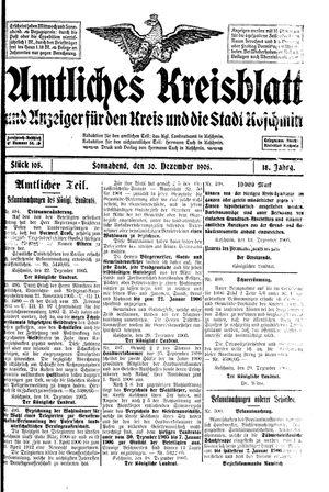 Amtliches Kreisblatt und Anzeiger für den Kreis und die Stadt Koschmin vom 30.12.1905