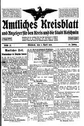 Amtliches Kreisblatt und Anzeiger für den Kreis und die Stadt Koschmin