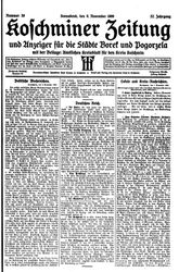 Koschminer Zeitung und Anzeiger für die Städte Borek und Pogorzela