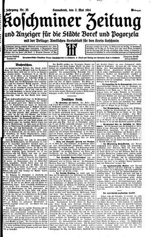 Koschminer Zeitung und Anzeiger für die Städte Borek und Pogorzela vom 02.05.1914