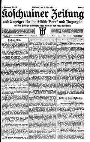 Koschminer Zeitung und Anzeiger für die Städte Borek und Pogorzela vom 06.05.1914