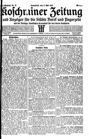 Koschminer Zeitung und Anzeiger für die Städte Borek und Pogorzela vom 09.05.1914