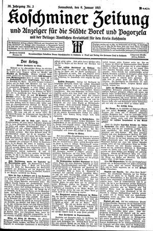 Koschminer Zeitung und Anzeiger für die Städte Borek und Pogorzela on Jan 9, 1915
