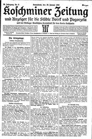 Koschminer Zeitung und Anzeiger für die Städte Borek und Pogorzela on Jan 29, 1916