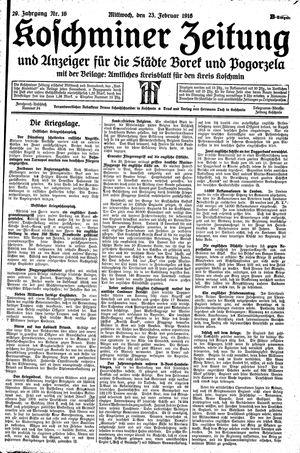 Koschminer Zeitung und Anzeiger für die Städte Borek und Pogorzela on Feb 23, 1916