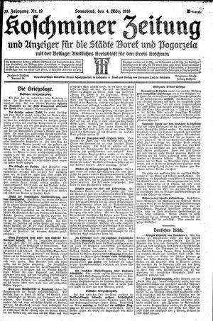 Koschminer Zeitung und Anzeiger für die Städte Borek und Pogorzela vom 04.03.1916