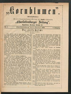 Kornblumen vom 04.01.1880