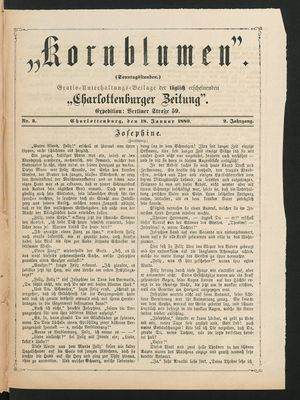 Kornblumen vom 18.01.1880