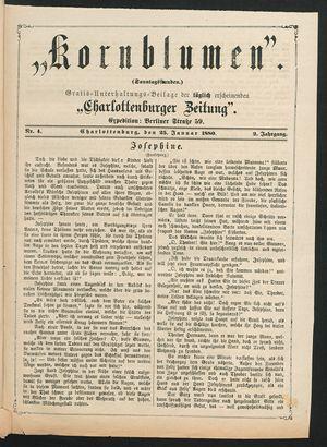Kornblumen vom 25.01.1880