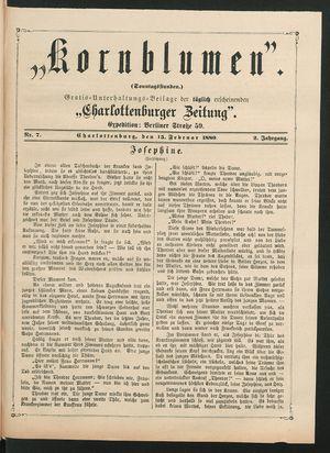Kornblumen vom 15.02.1880