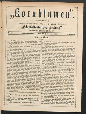 Kornblumen vom 22.02.1880