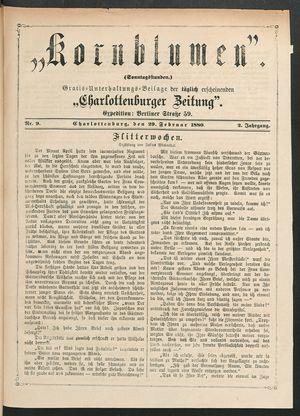 Kornblumen vom 29.02.1880