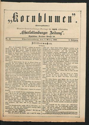 Kornblumen vom 07.03.1880