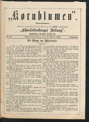 Kornblumen vom 11.04.1880