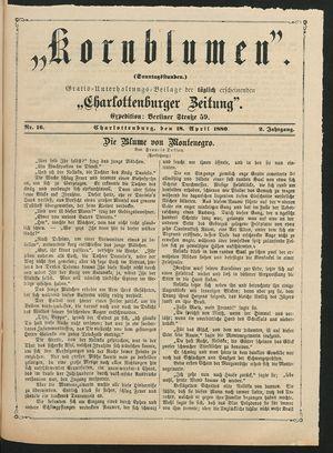 Kornblumen vom 18.04.1880