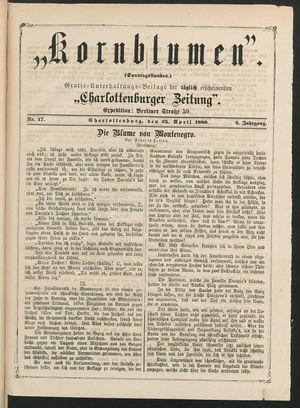 Kornblumen vom 25.04.1880