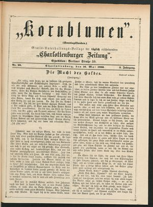 Kornblumen vom 16.05.1880