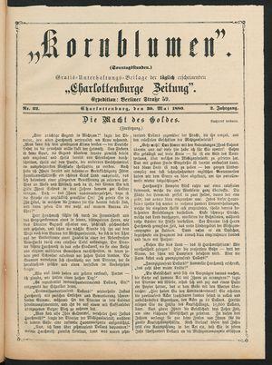 Kornblumen vom 30.05.1880
