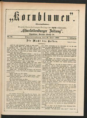 Kornblumen vom 13.06.1880