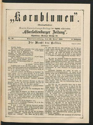 Kornblumen vom 20.06.1880
