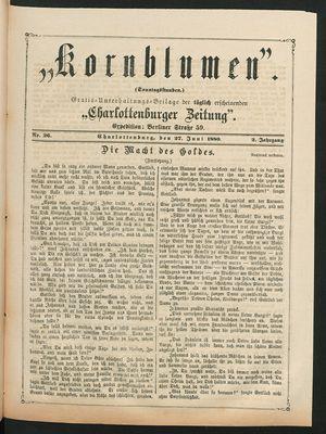 Kornblumen vom 27.06.1880