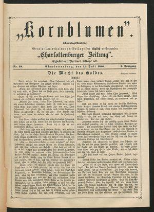 Kornblumen vom 11.07.1880