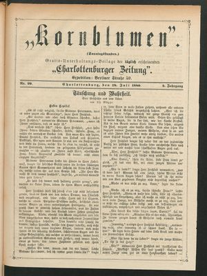 Kornblumen vom 18.07.1880