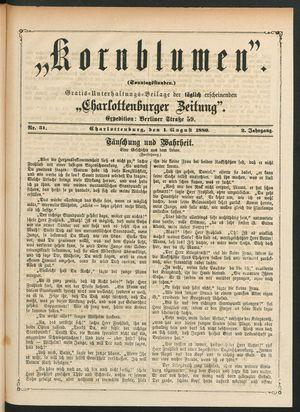 Kornblumen vom 01.08.1880
