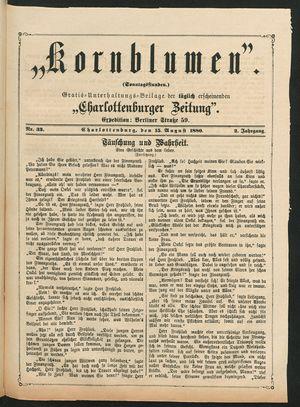 Kornblumen vom 15.08.1880