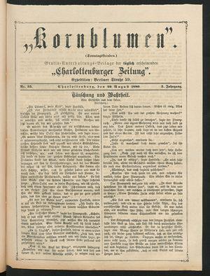 Kornblumen vom 29.08.1880
