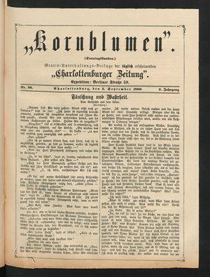 Kornblumen vom 05.09.1880
