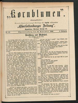 Kornblumen vom 12.09.1880
