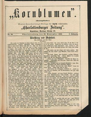 Kornblumen vom 19.09.1880